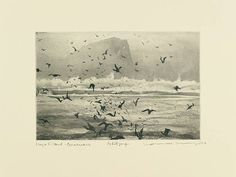'High Island Connemara' by Norman Ackroyd Stencil Painting, Painting Prints, Art Prints, Illustrations, Illustration Art, Norman Ackroyd, Intaglio Printmaking, Etching Prints, Paint Photography