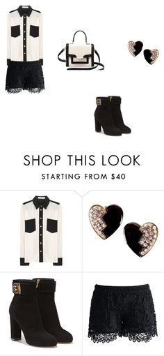 """""""The Royals"""" by evcdh ❤ liked on Polyvore featuring See by Chloé, Yves Saint Laurent, Salvatore Ferragamo, Chicwish and Kate Spade"""
