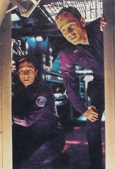 """Armoury Officer Lieutenant Malcolm Reed and Chief Engineer Commander Charles """"Trip"""" Tucker III, Enterprise NX-01"""