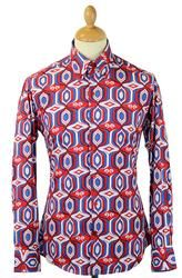 Sunrise MADCAP ENGLAND 60s Mod High Collar Shirt R