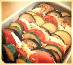 Courgette, aubergine & mozzarella