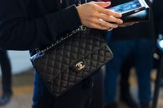 Best Bags of NYFW Day 6- Classic chanel flap bag in caviar leather