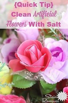How to clean artificial flowers and silk pants with microfiber 15 uses for salt for cleaning more natural cleanerscleaning hacksartificial flowershousehold mightylinksfo
