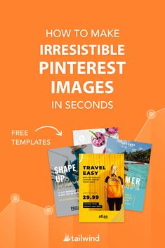 How to Make Irresistible Pinterest Images In Seconds - Stumped when it comes to creating beautiful Pins? You're not alone! Check out our handy-dandy guide for streamlining the design process + free templates!   #PinterestDesign #PinterestMarketing #PinterestforBusiness #Pinterest101 Facebook Marketing, Online Marketing, Social Media Marketing, Marketing Strategies, Marketing Ideas, Digital Marketing, Pinterest Design, Pinterest Images, Pinterest For Business