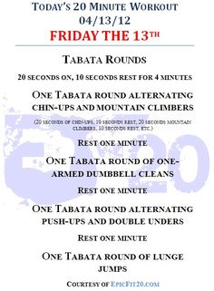 Today's 20-Minute Workout 04/13/12