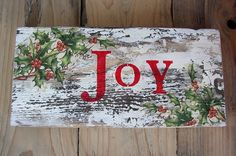 Joy Sign Pallet Christmas Sign Rustic Christmas by ForesteDiOro
