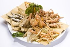 frittura di pesciolini e verdure miste