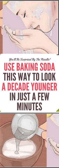 Use Baking Soda This Way to Look a Decade Younger in Just a Few Minutes!!