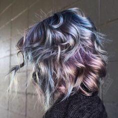 Oil Slick Hair: The Epic New Rainbow Hair Technique - Part 11