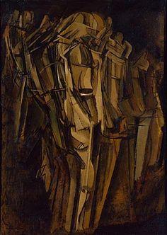 Marcel Duchamp, 1911-12, Nude (Study), Sad Young Man on a Train (Nu -esquisse-, jeune homme triste dans un train), Peggy Guggenheim Collection, Venice - Marcel Duchamp - Wikipedia, the free encyclopedia