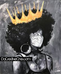 """Black Queen II"" by DaCre8iveOne #Naturally Series… is Now available here!! https://www.redbubble.com/people/dacre8iveone/works/26350933-naturally-queen-ii ☝☝☝#girlswithcurls #teamnatural #natural #naturalhairdaily #blackgirlmagic #melanin..."