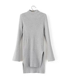 HEYFAIR Womens Simple Slit Long Knitted Pullover Sweater Jumper m 2 *** You can find out more details at the link of the image.  This link participates in Amazon Service LLC Associates Program, a program designed to let participant earn advertising fees by advertising and linking to Amazon.com.