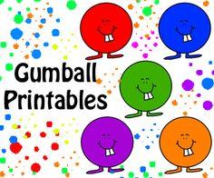 Church House Collection Blog: Gumball Printable Templates- Alphabet, Names, Numbers, Kindergarten Cubby Ideas, Birthday Food, Supplies, Glue, Yarn, Beads, Etc- DIY Cutout Gumballs