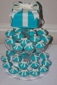 Tiffany Gift Box Cupcake Tower