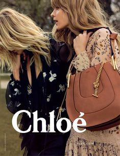 Anja Rubik & Julia Stegner in Chloe FallWinter 2015 campaign (photography Inez van Lamsweerde & Vinoodh Matadin) best fashion ad campaigns fallwinter 2015 via fashioned by love british fashion blog #fashionhandbags