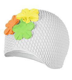 Sporti Floral Bubble Cap at SwimOutlet.com