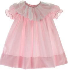 Hiccups Childrens Boutique - Baby Girls Pink Daygown White Scalloped Collar, $61.00 (http://www.hiccupschildrensboutique.com/baby-girls-pink-daygown-white-scalloped-collar/)