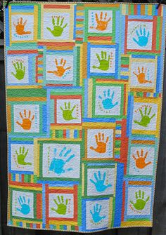 paint handprint example that is still very cute.