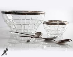 Vintage Silverplate Italy Glass/Crystal 5 by TheCordialMagpie