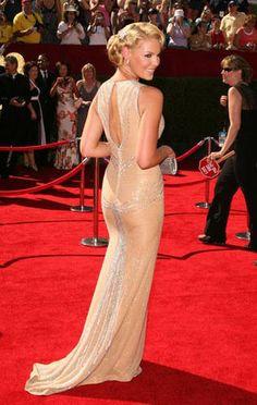 Katherine Heigl in a classy cream dress