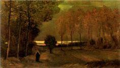 Autumn Landscape at Dusk - Vincent van Gogh (1885)