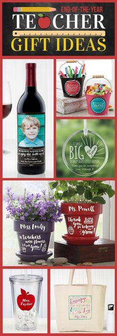 LOVE These unique End of the year Teacher Gift Ideas! You can personalize them all so they're extra special! And the best part is all of these are affordable teacher gift ideas!
