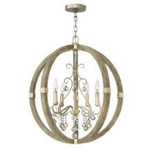 4 Light Chandelier From the Abingdon Collection