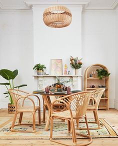 The Resurgence of Cane Furniture - Adding Cane Furniture to Your Home Cane Furniture, Furniture Market, Rattan Furniture, Vintage Furniture, Living Room Furniture, Living Room Decor, Dining Rooms, Fall Home Decor, Autumn Home