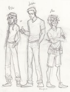 Piper Mclean, Jason Grace, and Leo Valdez