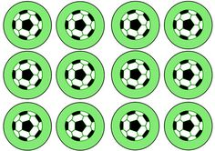 Fun printable soccer cupcake toppers for a soccer birthday party or after-game snack. These printable soccer cupcake toppers have a bright green background behind a black and white soccer