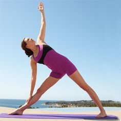 Tone your thighs with this awesome yoga move: Extended Triangle. #fitness | Health.com
