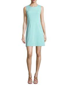 TBXT3 Diane von Furstenberg Sleeveless Carrie A-Line Dress, Aquamarine