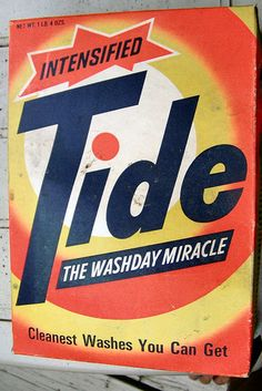 1960s Tide box | Flickr - Photo Sharing! The smell and the feel of Tide growing up fills my heart with many family memories and experiences!//mar16