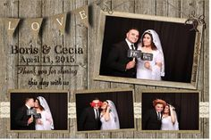 Photobooth Layout For Rustic Or Modern Vintage Wedding in Wedding Photobooth - Party Supplies Ideas Photobooth Layout, Photobooth Template, Photo Booth Frame, Photo Booths, Modern Vintage Weddings, Custom Photo, Layout Design, Event Planning, Overlays