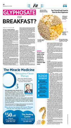 Glyphosate for Breakfast? Epoch Times #Health #newspaper #editorialdesign