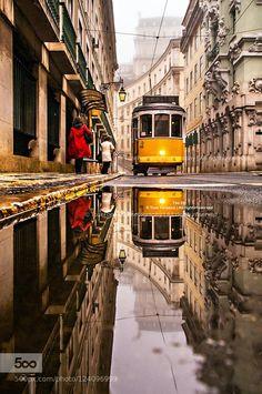 The Lisbon - Portugal Lisbon Tram, Lisbon Hotel, Beautiful World, Beautiful Places, Old Steam Train, Tramway, Portugal Travel, Famous Places, Portuguese