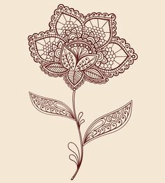 Henna Doodles Vector Designs by Jess Volinski, via Behance
