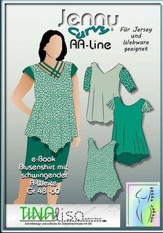Jenny Curvy AA-line Blusenshirt bei Makerist