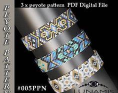 peyote bracelet pattern, peyote pattern, odd count, stitch pattern, pdf file, pdf pattern, #005PPN, lunamis
