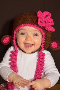 oh my WORD! I love how they put the curly cue's on the girl monkey hat! LOVE