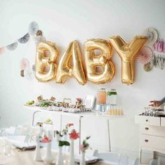16'' Gold BABY Foil Balloons