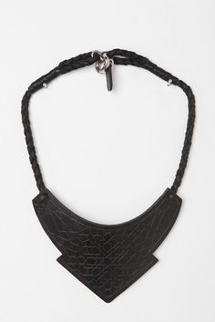 Been wanting a matte black necklace....i could make my own at out of printed leather!!