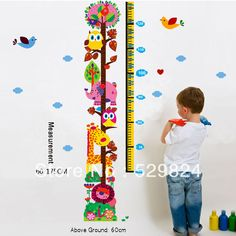 Aliexpress.com : Buy Animal park measure 60*175cm height wall stickers /kids wall stickers decorative painting background wallpaper, WS 40 from Reliable Animal park height wall stickers suppliers on SW-STAR Rainbow Home $6.69