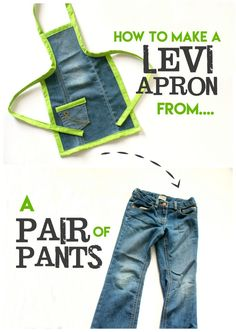 How to make a levi apron from a pair of pants! Pretty easy and a great heavy duty apron!