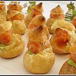 recette mini choux farcis à l'avocat et saumon fumé à l'aneth en amuses-bouche