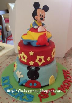 Mickey Mouse Baby Shower Cakes For Boys   Mickey Mouse Clubhouse Mini 2  Tier For Baby