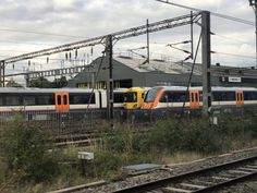 New Overground trains (Class sitting at Willesden Junction London Overground, British Rail, Emu, Train Tracks, Locomotive, Transportation, Live, Pictures, Trains