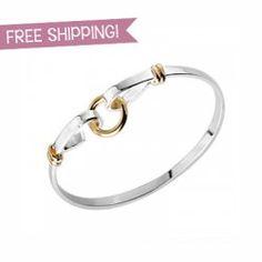 FREE SHIPPING! Sterling Silver Circle Bangle. Just $9.99