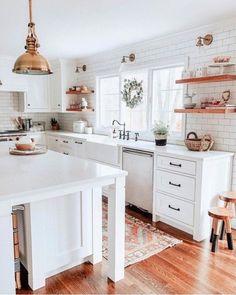 Home Interior Kitchen .Home Interior Kitchen Kitchen Interior, Kitchen Remodel, Kitchen Decor, Home Remodeling, House Interior, Home Kitchens, Cottage Decor Farmhouse, Kitchen Renovation, Kitchen Design