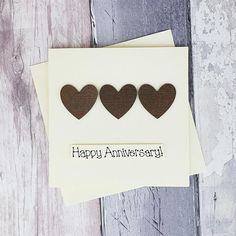 8th anniversary card Bronze wedding anniversary card | Etsy Happy Anniversary Husband, 8th Wedding Anniversary, Bronze Wedding, Romantic Cards, Congratulations Card, Heart Cards, Valentine Day Cards, Greeting Cards Handmade, Homemade Cards